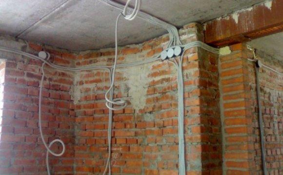 Монтаж электропроводки в